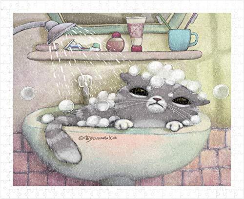 Pintoo - H1501 - Mumu in the Bath - 500 Piece Plastic Puzzle