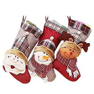 Chaussette bas de no l freesoo motif de p re no l sac for Decoration de noel amazon