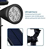 Led Solar Spotlights Outdoor, Mpow 2-in-1 Multi Use Solar Powered Outdoor Wall Security Light / Waterproof Solar Spotlight Landscape Lighting Security Lights 180°angle Adjustable, Auto On/Off for Garden, Outdoor, Lawn, Backyards, Outside Wall etc Bild 2