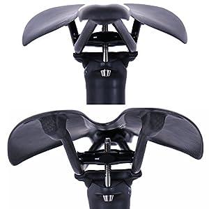 QIKU Tija de sillín MTB de Carbono/Bicicleta de Carretera en tija de sillín de Carbono 27.2/31.6 * 350/400 mm (31.6 * 350mm)