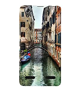 99Sublimation Venice City 3D Hard Polycarbonate Back Case Cover for Lenovo A6000 +