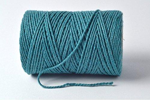 Premium Bleu sarcelle/turquoise 100% coton Ficelle – 10 metres Longueur de coupe par Cranberry Card Company