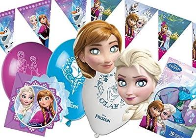 Ciao Y2514 Kit de accesorios de fiesta Disney Frozen para 12 Personas, 41 piezas de Ciao