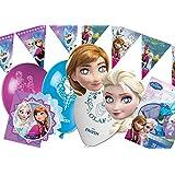 Ciao Y2514 Kit de accesorios de fiesta Disney Frozen para 12 Personas, 41 piezas
