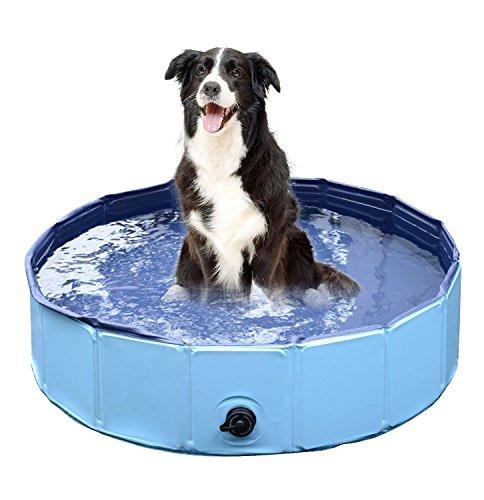 Faltbar Aufblasbar Pool für Hunde Pool Garten Planschbecken ...