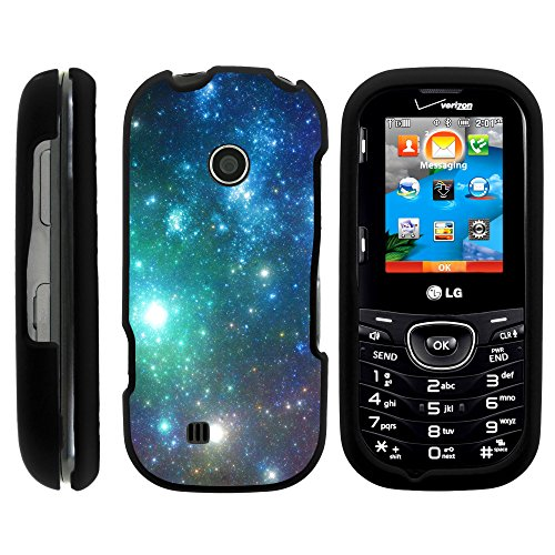 LG Cosmos 3Vn251s Coque, Snap on Full Body Armour Coque de Protection Rigide Galactic Designs Série LG Cosmos 3Vn251s et LG Cosmos 2par Miniturtle - Colorful Galaxy with Specs