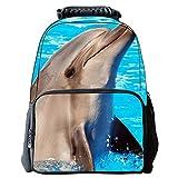 Tailloday 3D Animal-Prints Rucksack Kinder Rucksack Kinderrucksäcke Schulrucksäcke Schulranzen Rucksäcke Kinderrucksack (Delphin)