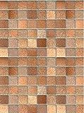 i.stHOME Klebefolie Möbelfolie Fliesen Toscana braun - 45 x 200 cm - Dekorfolie - Selbstklebende Folie