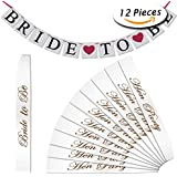 Paxcoo 11 Pcs White Hen Party Sashes and Bride to Be Banner pour les dames Night Out Décorations