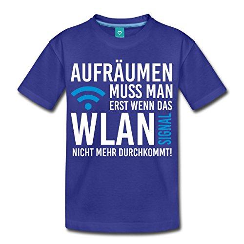 Spreadshirt Aufräumen muss Man Erst Wenn Das WLAN Signal Nicht Mehr Durchkommt Teenager Premium T-Shirt, 146/152 (10 Jahre), Königsblau (Mädchen Nerds T-shirt)