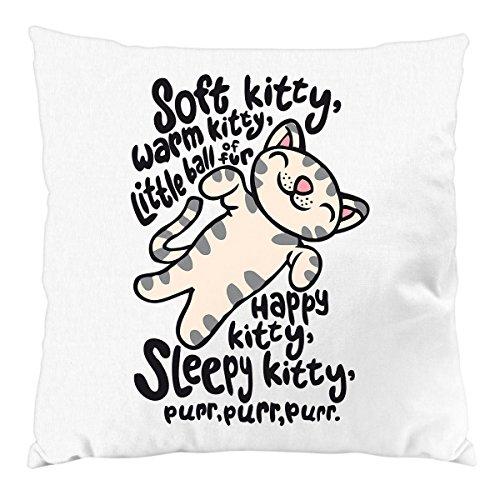 style3 Soft Kitty Kissen mit Füllung Baumwollbezug penny, Farbe:Weiß