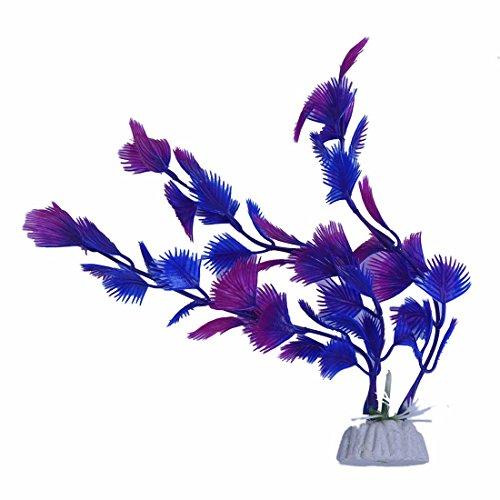 Aquarium Dekoration - TOOGOO(R) Kuenstliche Pflanzen Blau Lila Kunststoff Aquarium Dekoration -