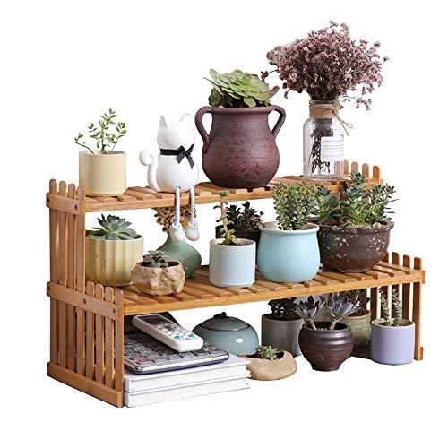 LXHJZ Indoor Blumenständer Moderner hölzerner Blumentopf-Stand - 2-stufige Gartenpflanzer-Ausstellungsleiter - für Zuhause, Tisch, Büro (Topf Nicht enthalten) (Blumentopf Menschen)