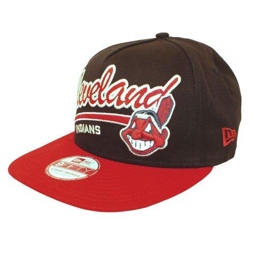 New Era 9FIFTY EMEA Script Logo Cleveland Indians snapback cap, azul