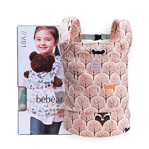 Bebamour Portabebés de algodón para niñas Accesorios para muñecos de bebé Juguetes para niños Muñeca Bolsa 3 en 1 Portabebés Sling Muñeca Baby Garabatos, Gris Púrpura con Ovejas (Naranja)