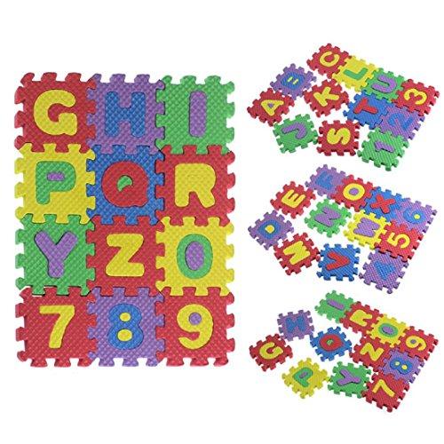 Amlaiworld 36Pcs bébé enfant numéro Alphabet Puzzle mousse