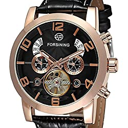 Casual Leather Strap Watches Luxurious Men's Mechanical Fashion Style Watch
