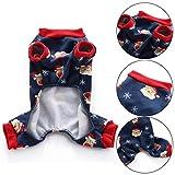 rycnet lovely Christmas Santa Snowflake termica cane pigiama abbigliamento Pet Coat tuta