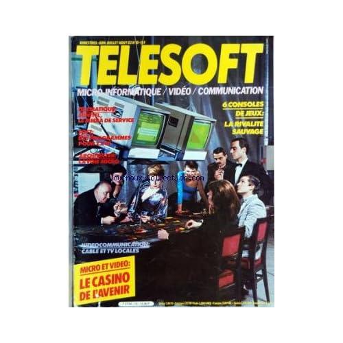 TELESOFT [No 10] du 01/06/1983 - 6 CONSOLES DE JEUX / LA RIVALITE SAUVAGE - TELEMATIQUE / MINITEL - LE MEDIA DE SERVICE - SOFT / DES PROGRAMMES POUR ZX 81 - ARCHTECTES / LA VOIE MICRO - LE CASINO DE L'AVENIR