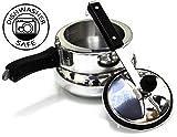 #6: Deluxe Alpha Baby Handi Aluminium Pressure Cooker, 2 Litres, Silver