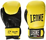 Leone 1947 Flash, Guantoni da Boxe Unisex-Adulto, Giallo, 10 oz