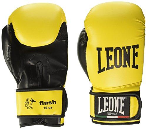 Leone 1947 Flash, Guantoni da Boxe Unisex-Adulto, Giallo, 10 oz