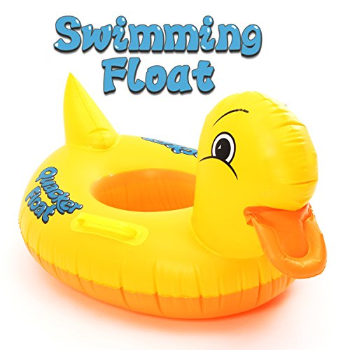 FUNTOK Pato amarillo anillos inflables de la natación Diseño amarillo lindo del...