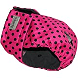 Dog in Season - Heat - Size Extra Large - Nappy Pants / Diaper - Dotty Pink