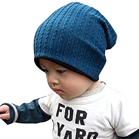 Tonwalk 1pc Baby Hat Warm Beanies Cap for 1-3 Years (Blue)