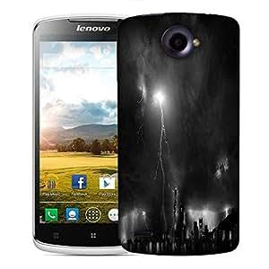 Snoogg Black Thunder Designer Protective Phone Back Case Cover For Lenovo S920