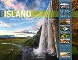 Island 2020, Wandkalender im Querformat (54x42 cm) - Natur- und Reisekalender mit Monatskalendarium (Reisen mit allen Sinnen) - Ackermann Kunstverlag