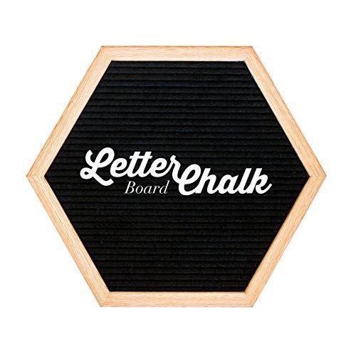 Zwei-seitige–letterchalk Wechselhafte Buchstabe Board Kreide Board Kombination–Buchstabe Board, Schild auf Vorder-Kreidetafel auf Rückseite Hexagon - Black