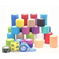 YCNK 5 Pack 2 Zoll X 5 Yards Self Adherent Cohesive Wrap Bandagen Flexible Stretch Athletic Tape mit starken Elastik... preisvergleich bei billige-tabletten.eu