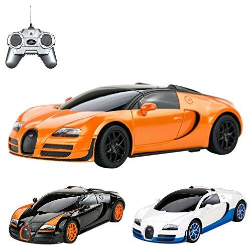 Bugatti Veyron 16.4 Grand Sport Vitesse – RC ferngesteuertes Lizenz-Fahrzeug im Original-Design, Modell-Maßstab 1:24, Ready-to-Drive, Auto inkl. Fernsteuerung