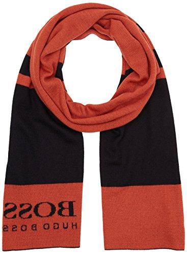 Boss Green 50323063, Echarpe Homme Orange - Orange (Dark Orange 805)