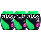 Dylon 350g máquina Dye Pod Tropical verde x 3