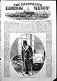 Antiker Druck des Militärkrankenhauses Haslar verwundete Soldaten, den Bein 1855 amputierte