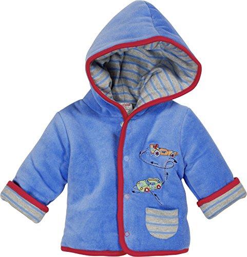 Schnizler Baby-Jungen Jacke Jäckchen Nicki Rennwagen Wattiert, Oeko-Tex Standard 100, Blau (Blau 7), 68