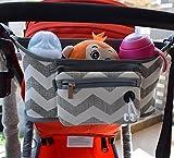Bolso de Cochecito de Bebé Bolsas Cambiadores de Carritos Cesta Colgante de Almacenamiento Organizador Maternidade Accesorios de Silla de Paseo, Rayas