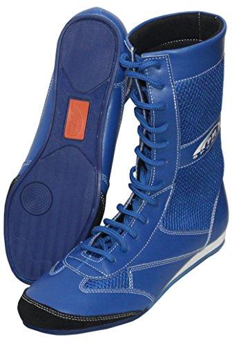 Sport-Uhr, mit echtem Leder Boxing/Wrestling Schuhe Gummisohle–Mash –, für Kinder/Jugendliche, blau, ()