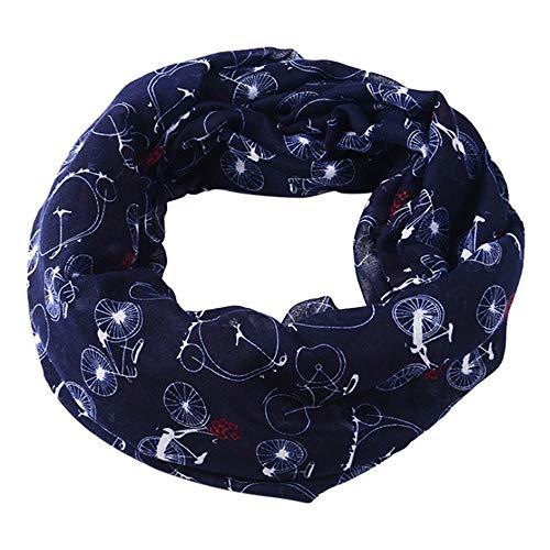 Amphia - Damen Mode Schöne Gestickte Baumwolle Leinen Floral Wrap Schals Schals,Verschlüsseltes Bali-Garn, um den warmen Schal zu erhöhen(Navy)