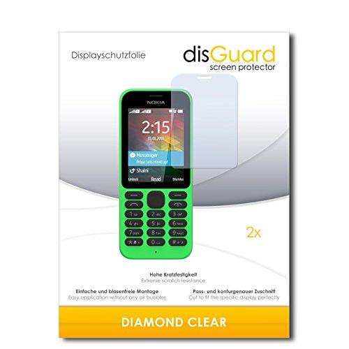 2 x disGuard® Bildschirmschutzfolie Microsoft Nokia 215 Dual Sim Schutzfolie Folie