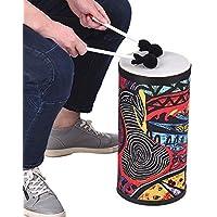 Muslady Tambor de pisoatractivo Superficie de arte de tela atractiva con correa para el hombro Instrumento de percusión para recoger el rendimiento de la calle Práctica de ritmo