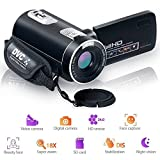 Camcorder Videokamera Night Vision Pause Funktion Digitalkamera Full HD 1080 P 24.0MP Vlogging Kamera mit Fernbedienung