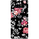 Samsung Note 8 Cases And Covers Black Floral Blooming Roses Feeling Floral Designer Printed Hard Shell Case