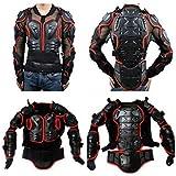 Chaqueta de Moto Protección para Motocross Ropa Protectora de Cuerpo Armadura Completo Profesional de Motocicleta Deportiva Para Hombres Columna Vertebral Hombro Pecho ( Rojo, XL )