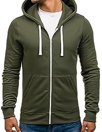 BOLF-Sweat-shirt à capuche – Manches longues – Fermeture éclair – Homme [1A1]