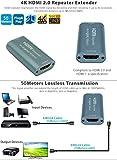 HDMI-HR20 HDMI Ripetitore Estensione v 2.0 Extender fino a 25m 4k@60Hz;35m 4k@30Hz/50m per 3D 1080p PS4 DVD HDTV Notebook Laptop Desktop PC Projector etc immagine
