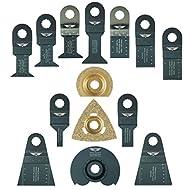 14 x TopsTools WXK14 Mix Klingen für Worx Sonicrafter, Worx 250W, Erbauer Multitool Multi Tool Multifunktionswerkzeug Oszillierwerkzeug Zubehör