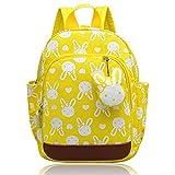 Vox Niedlich Tier Hase Babyrucksack Kinderrucksack Kleinkind Mädchen Kindergarten Rucksack Backpack mit Brustgurt Junge (Gelb)